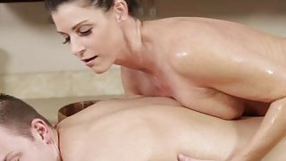 MILF and brunette India Summer gets hammered after closing the spa