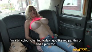 Sienna Day rides the taxi driver's stick shift