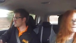 Ella Hughes gets fucked hard by her driving instructors