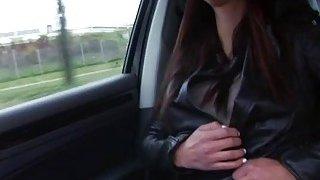 Attractive and busty Victoria hitchhikes and strokes dudes dick