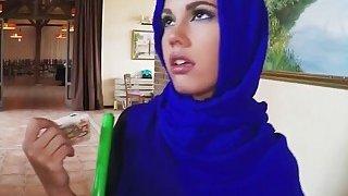 Arab hottie riding monster dick
