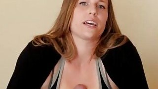 Brunette chick pleasures big cock with her extra big tits