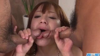 Young Ayaka Fujikita screams while getting fucked