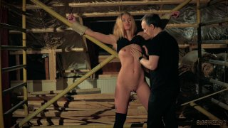 Naughty submissive teen gets punished and teased