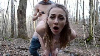 Amazing teen has outdoor sex with a casting agent POV