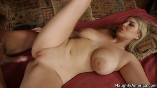 Curvy and busty blonde Athena Pleasures knows how to bring pleasure