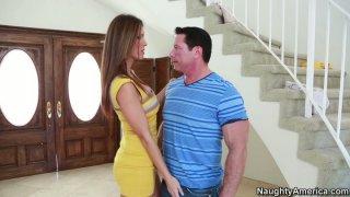 Jennifer Dark flirts with his panty fellow