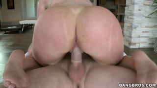 Big bubbled ass rides meaty dong