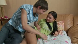 Horny dude Shane seduces teen chick Raine and gets a quality blowjob