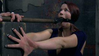 Seductive redhead sexpot Sarah Blake gets her fingernails nailed