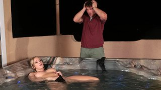 Bailey Brooke's Titty-Surprise in a tub!