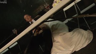 The best man goes at it with the bride